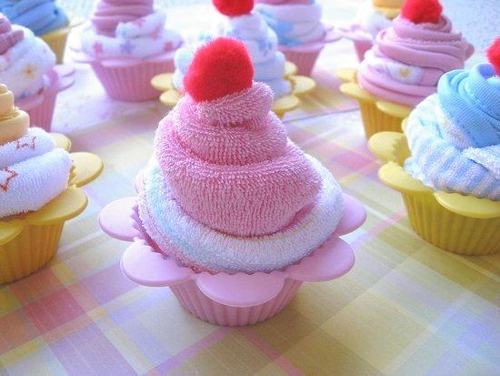 Cupcakes van washandjes