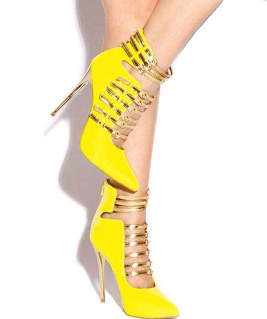 2016 women fashion yellow high heels shoes ladies shoes women sexy pumps black heels for dress sapatos feminino plus size RYA029