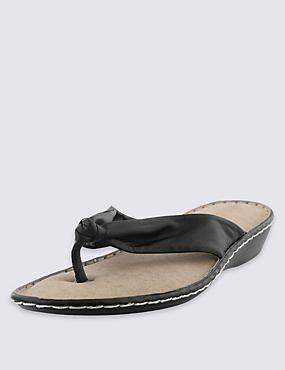 Leather Tubular Toe Sandals