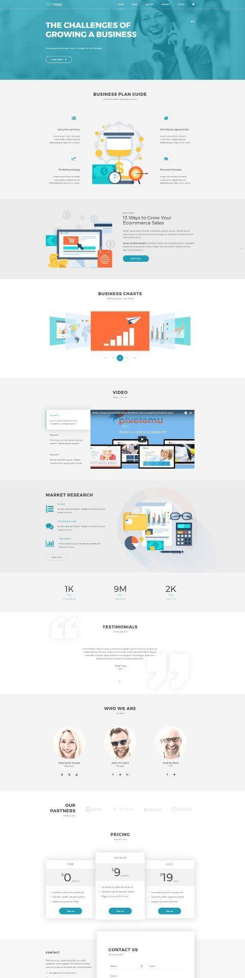Business WordPress Theme - the services presentation
