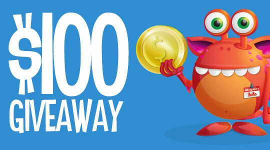 We're giving away $100 cash. Enter now to be in with a chance of winning!