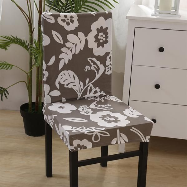 1 Piece Heart Pattern Chair Covers Jacquard Stretch Chair Covers For Dining Room Decoration Short Half Machine Washable V30