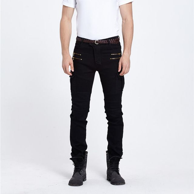 We love it and we know you also love it as well Green/black destroyed mens slim denim straight skinny jeans men ripped jeans small trousers male casual trousers Large size  just only $28.64 with free shipping worldwide  #jeansformen Plese click on picture to see our special price for you