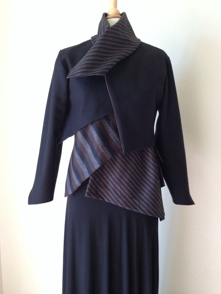 "Diane Ericson's ""Faultlines"" pattern. The Undershirt and Bolero jacket. www.dianeericson.com"