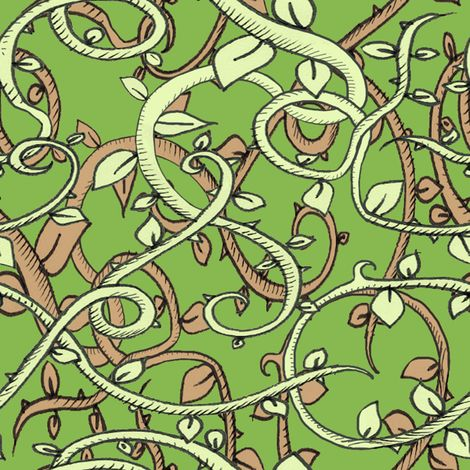 jungle3 fabric by miraculousmosquito on Spoonflower - custom fabric