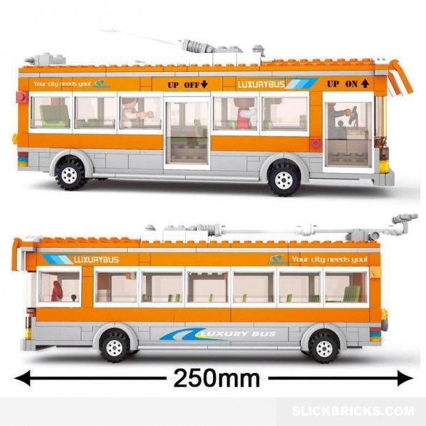 City Trolley Bus - LEGO Compatible Set