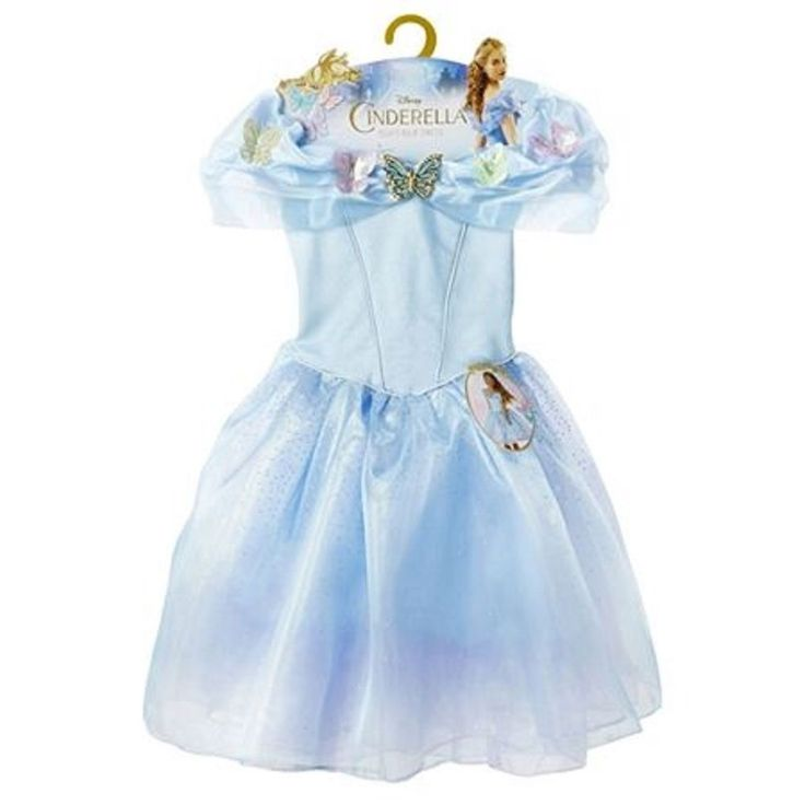 Disney Cinderella Princess Ella's Blue Costume Dress Girls Size 4-6X Age 3+ #Disney #Dress