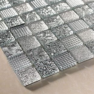 Luxury Bright Silver Many Kinds Masklike Gl Mosaic P Modern Floor Tiles Other Metro By Cmastyle