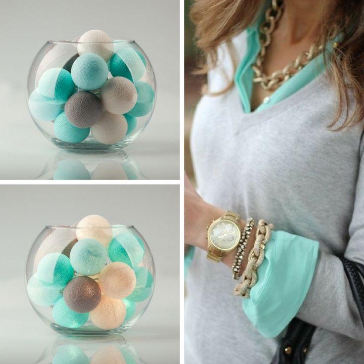 Идеальный мятный - наша новая расцветка тайских фонариков  «Mint»! / Mint cottonball lights.