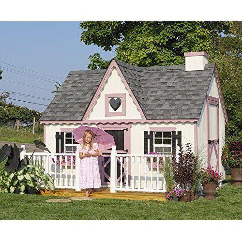 Best Outdoor Kids Playhouse Children Fun Playtime Victorian DIY Playhouse Kit #KidsPlayhouse