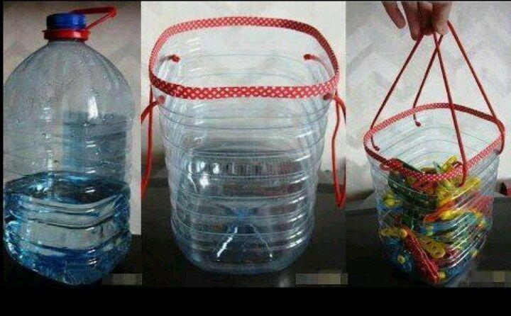 Reutilizando Bidones De Agua De 5 Litros Podemos Crear Estos Cubos