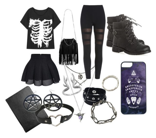 Occult AF by timidlarceny on Polyvore featuring polyvore, fashion, style, Avenue, Hidesign, STELLA McCARTNEY, Occulter and clothing