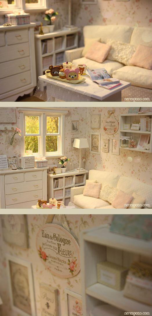 Nerea Pozo Art: ♥ Custom Handmade Diorama WHITE GLOWS ♥