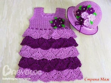 Crochet Knitting Handicraft: Summer dresses for girls