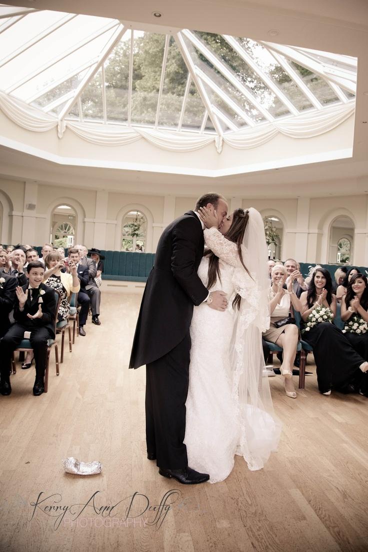 www.kerryannduffy.com  Kerry Ann Duffy Photography: Michelle & Ross' Wedding at Turkey Mill, Maidstone, Kent.  kiss the bride