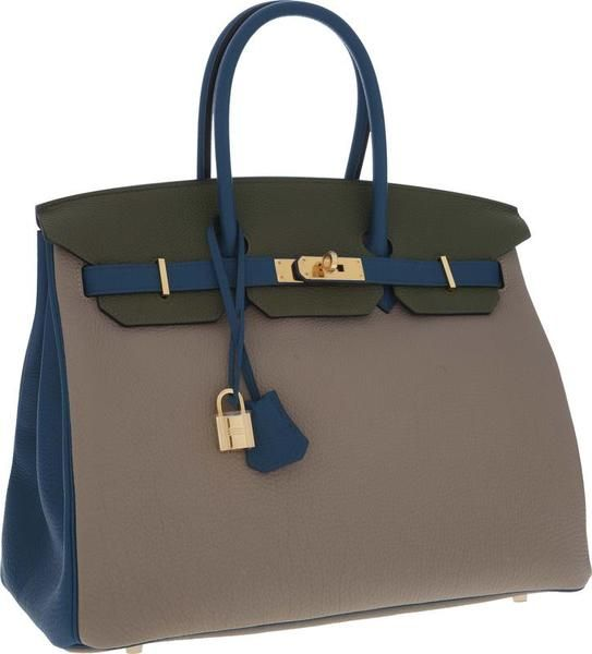 This Special Order Color Block Birkin bag sold for $32,500!!