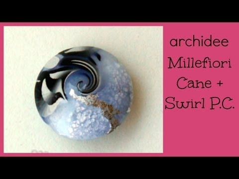 Polymer Clay Tutorial | Murrina Conchiglia Occhio di Venere | Shiva Shell Cane | SUBTITLES NOW !! - YouTube