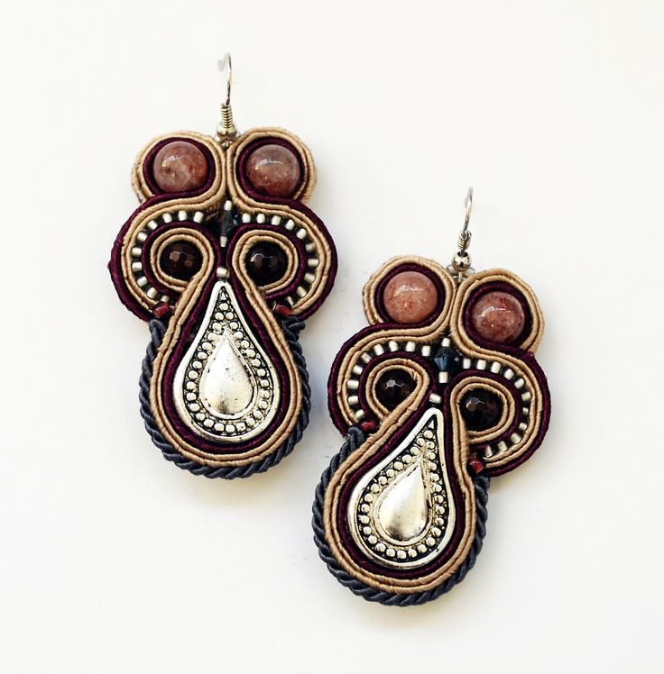 soutache earrings. Amarylis HandCraft