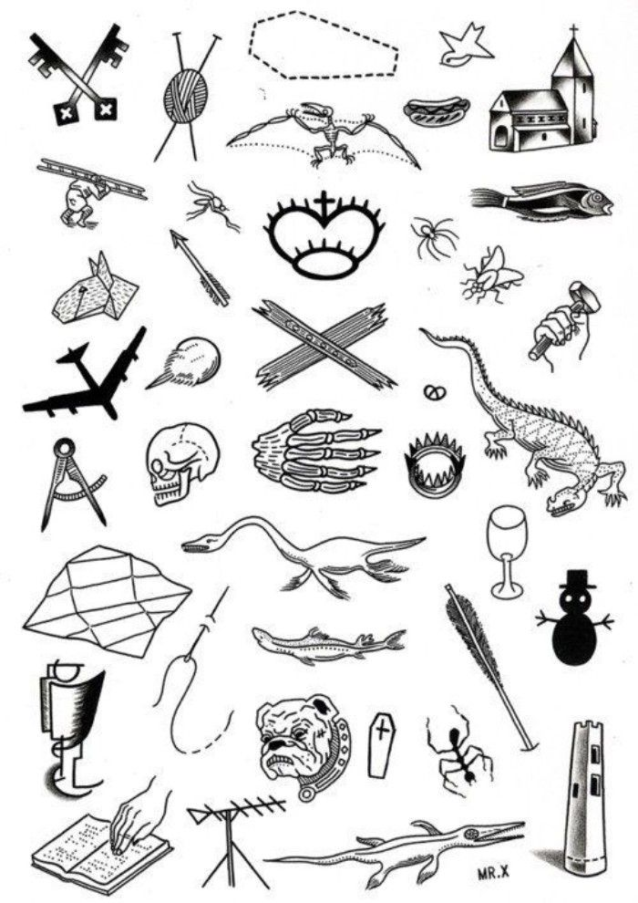 Tattoo Sleeve Flash Template: 1001 + Ideas For Unique And Meaningful Small Tattoos For