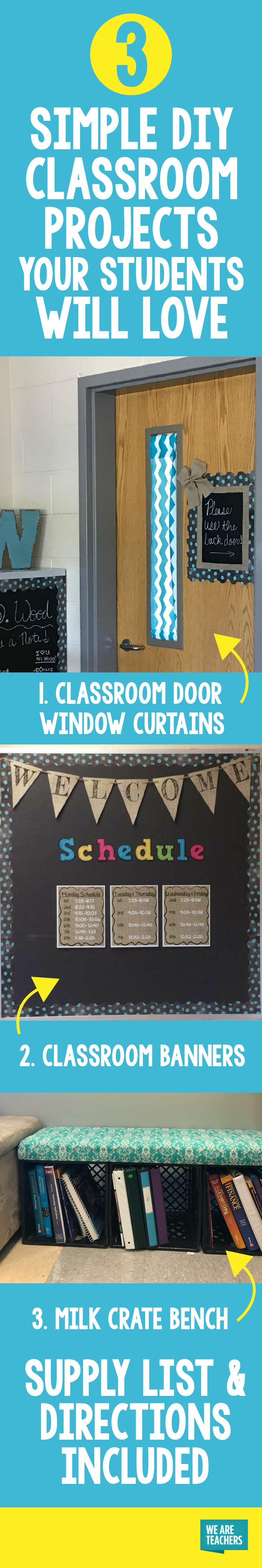 You'll love these simple DIY classroom projects. All you need is a few materials, and a can-do spirit. No sewing involved!