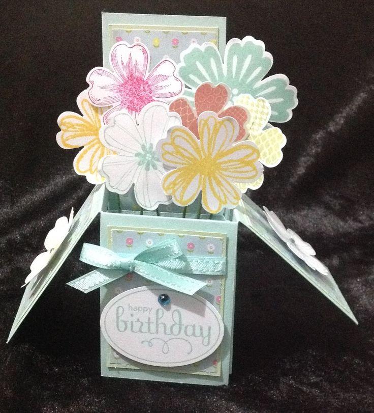 Exploding Box Birthday Card Teebees Kraft Pinterest Birthday Cards Exploding Boxes And Cards