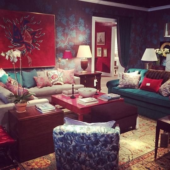 Look at these bold colors by designer Alexa Hampton @Philip Faircloth. #hpmkt