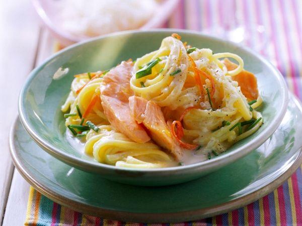 Spaghetti met zalm en ricotta - Libelle Lekker!