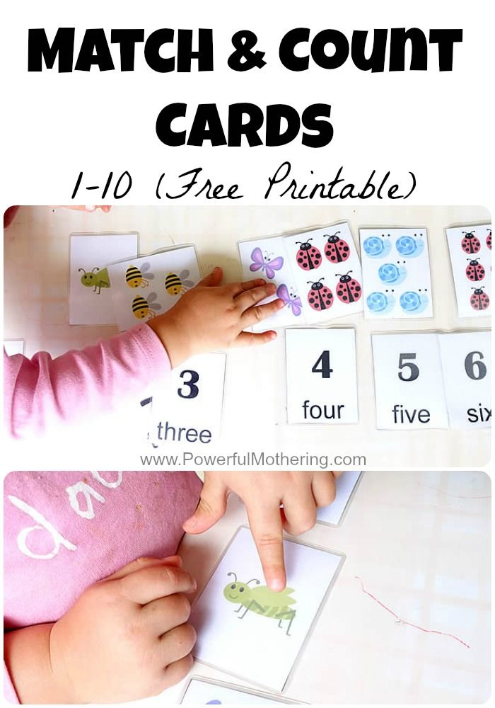This free printable for match and count has a few functions and accommodates a…
