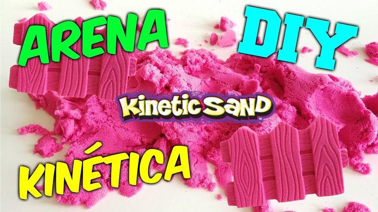 DIY ARENA KINETICA CASERA | KINETIC SAND | arena mágica