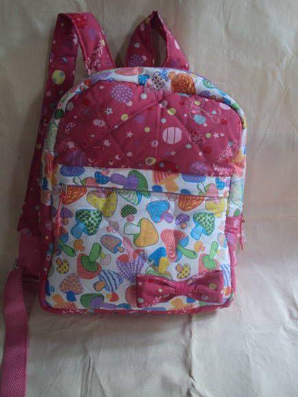 mochila infantil 100% algodão, disponível em outras estampas. R$ 65,89