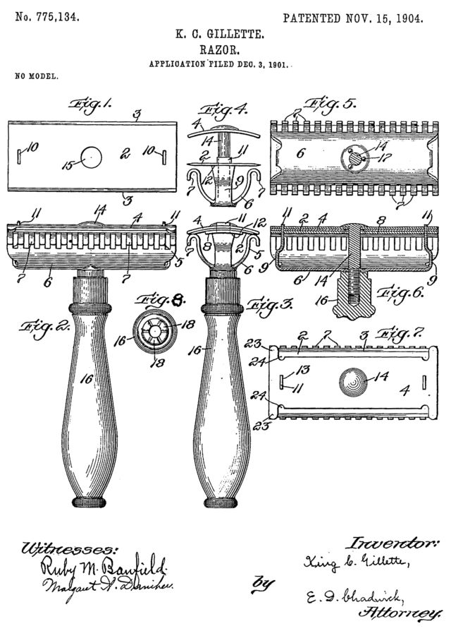 Gillette razor patent - King Camp Gillette - Wikipedia, the free encyclopedia