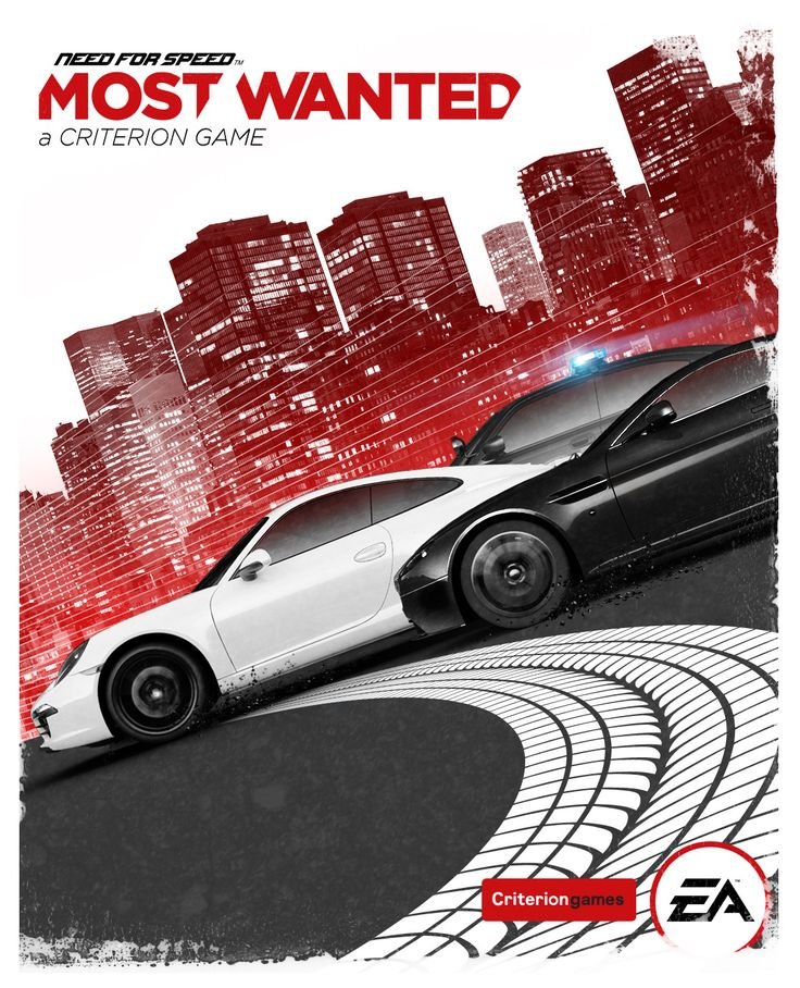 "The official cover of EA's ""Need For Speed: Most Wanted"""