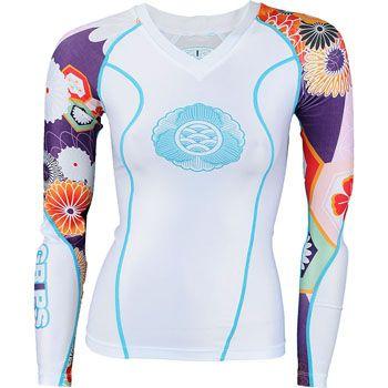 Grips Athletics Women's Longsleeve Power Flower Rashguard - BJJWarehouse.com - BJJ Gis, Jiu Jitsu Kimonos, Fight Shorts and More!