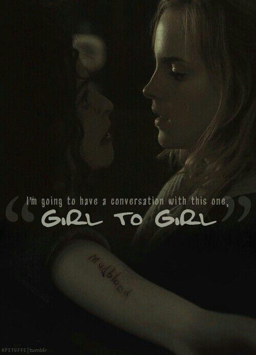 Bellatrix and hermione torture scene
