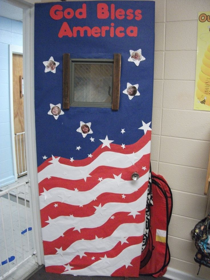 Classroom Decoration Ideas For Xbox ~ Fouth of july door design culture week pinterest