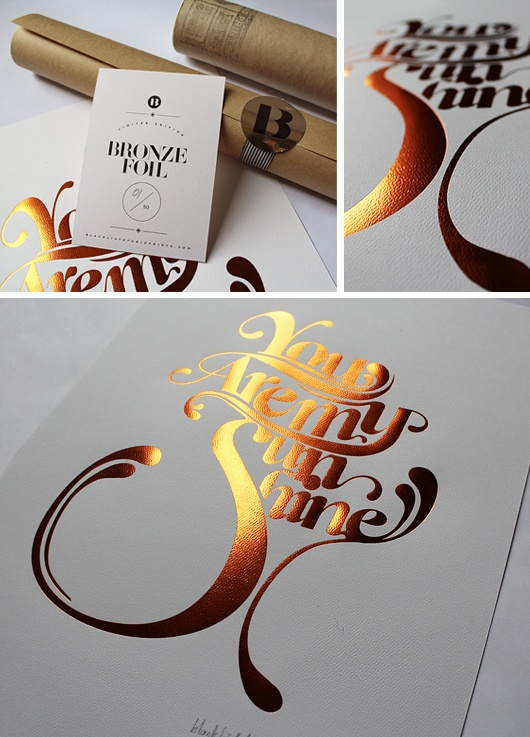 Loving the bronze foil and font