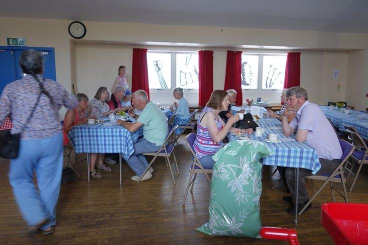 Enjoying the ploughmans lunch