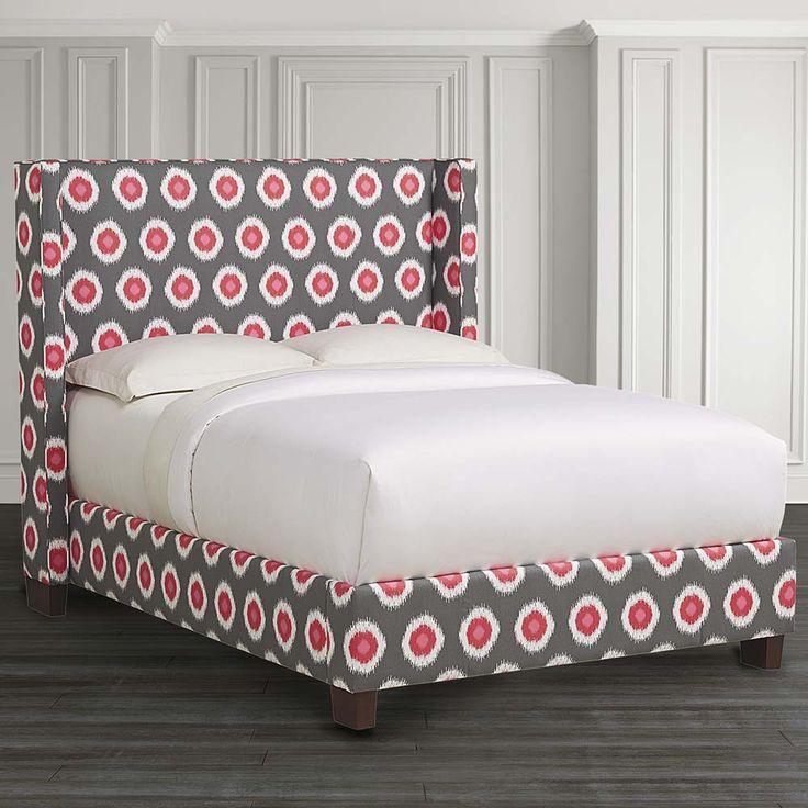 Lovely HGTV Custom Upholstered Dublin Winged Bed By Bassett Furniture.
