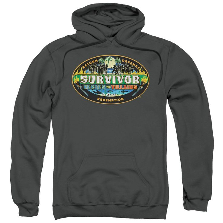 """Checkout our #LicensedGear products FREE SHIPPING + 10% OFF Coupon Code """"Official"""" Survivor / Heroes Vs Villains-adult Pull-over Hoodie - Survivor / Heroes Vs Villains-adult Pull-over Hoodie - Price: $49.99. Buy now at https://officiallylicensedgear.com/survivor-heroes-vs-villains-adult-pull-over-hoodie"""