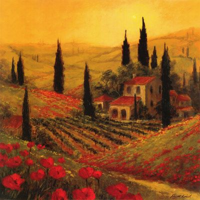 Tuscan Paintings | Tuscany painting by Italian Artist