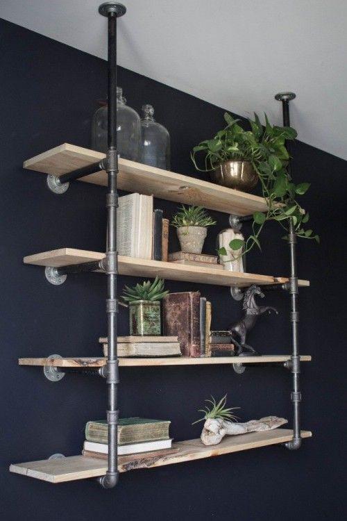 DIY Open Pipe Shelving Joanna Gaines Living RoomJoanna