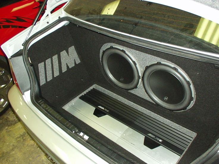2003 Bmw M3 Custom Amp Rack And Subwoofer Enclosure Safe