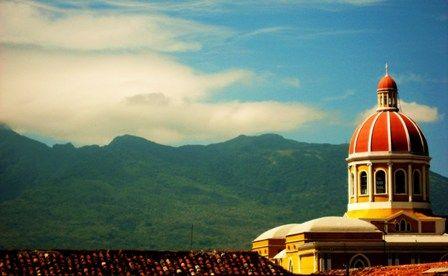 Granada's Cathedral and Mombacho Volcano
