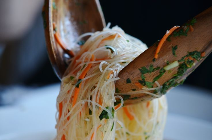 Vietnamese rice noodle salad is cool for summer. #asian-food #asian-recipes #vietnamese-food
