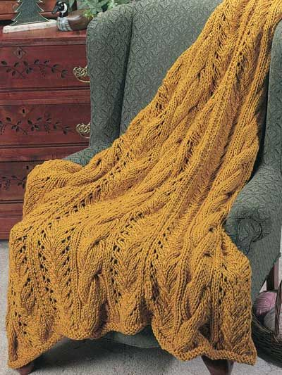 Easy Elegant Afghan - giant cables :) A free knitting pattern.