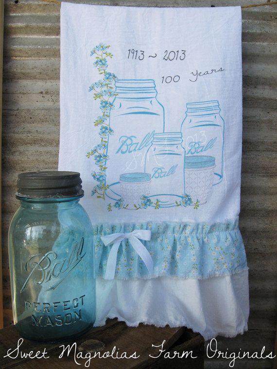 Flour Sack Kitchen Towel... Farmhouse Style by SweetMagnoliasFarm, $18.75