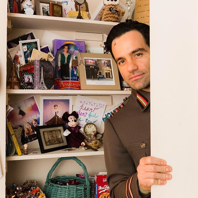 """ @raminkarimloo - suave, charming, and probably the biggest goof in our cast. You can bet he's scheming something this very moment. Halfway through Act 2 here at #saturdaynightonbroadway !"" -from the Anastasia BroadwayWorld Instagram takeover"