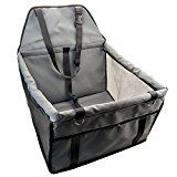 Quno Dog Carrier for Car Booster Seat Folding Soft Washable Pet Travel Carriers Cat Outdoor Hiking Grey