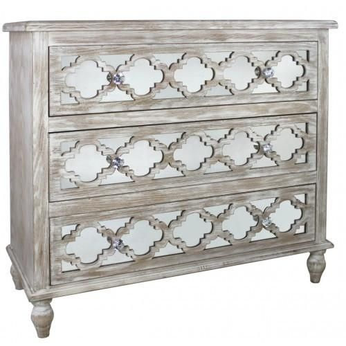 Our Hamlin Beach 3 Drawer Cabinet will look good on its own or as part of the collection. Solid wood which is then limed for protection, Three drawers adorn the