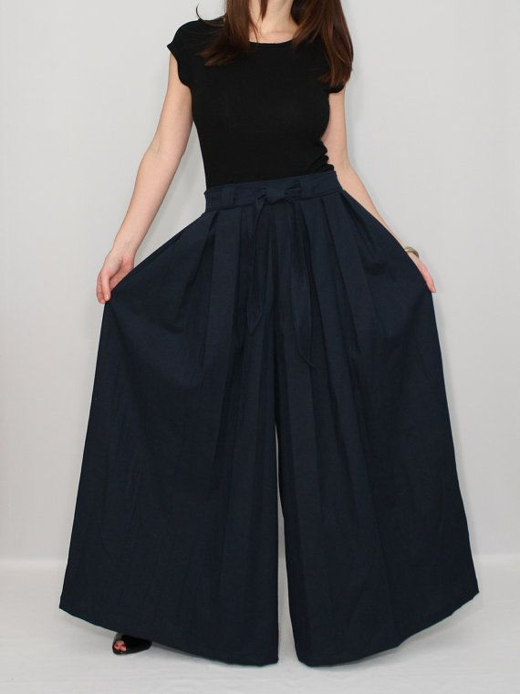 Wide Leg Skirt Pants